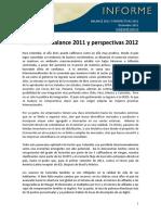 Contexto Nacional e Internacional 2012