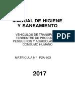 MANUAL DE HIGIENE Y SANEAMIENTO  DE TRANSPORTE DE PRODUCTOS HIDROBIOLOGICOS 2 CAMARAS.docx