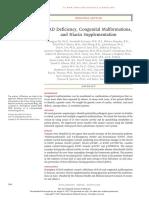 NAD Deficiency, Congenital Malformations,