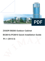 ZXSDR B8200 Outdoor Cabinet BC8910 PC8910 Quick Install Guide R1.1_V2012-12