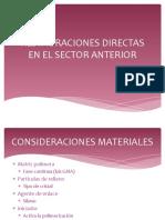Restauraciones Directas en El Sector Anterior 1