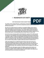 Manifesto of Unity