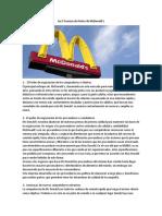Las 5 Fuerzas de Porter McDonald's
