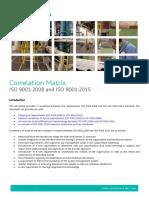 BM TRADA ISO 9001 Correlation Matrix