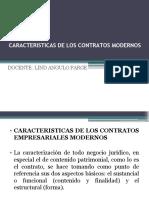 Características de Los Contratos Modernos