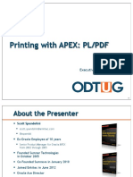 Printing With Oracle APX PLPDF