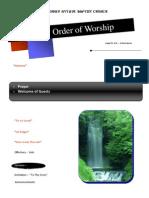 Order of Worship 08 22 2010 v1