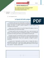 Guía de Lenguaje y Comunicación (Quinto básico)