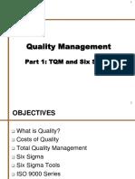7. Quality Management - Part 1