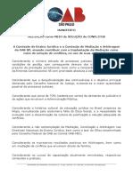 Manifesto Mediacao OAB SP.pdf