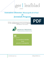 Executive Position Profile - Jeremiah Program - MSP - Executive Director