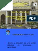 9º Clase Microplanificacion Curricular - Diseño de Una Sesion Didactica o de Aprendizaje