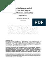Whittington's Four Approaches