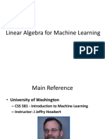 Linear Algebra for Machine Learning