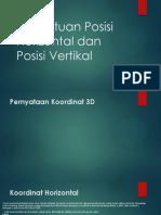 Penentuan Posisi Horizontal Dan Posisi Vertikal