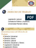 Derecho de TrabajoI