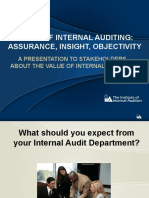 Value of Internal Auditing