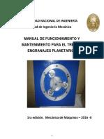 Manual-Tren de Engranajes Planetarios