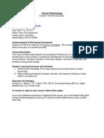 F17 PSY F030 Social Psychology 02W, 02W Cormier 20670, 20671