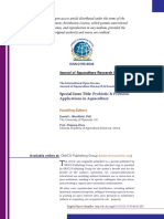 Prebiotic and Probiotic Application in Aquaculture
