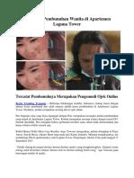Kronologi Pembunuhan Wanita Di Apartemen Laguna Tower