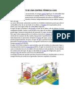 Funcionamiento de Una Central Térmica a Gas y Materiales