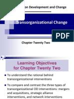 Od Ch 22 Transorganizational Change