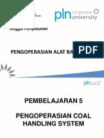 08 Pengoperasian Coal Handling