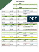 2010-2011 Hialeah Gardens HS Block Calendar
