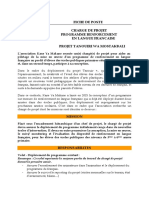 Fiche de Poste Chargé de Projet Programme Français 2017