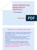 Adaptation Options and Capabilities in Mongolia