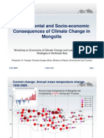Environmental and Socio-economic Consequences of Climate Change in Mongolia