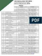 AITS 2018 Schedule