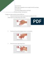 Prinsip Dari 6 Langkah Cuci Tangan Antara Lain
