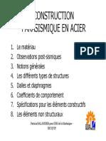 Construction Parasismique en Acier