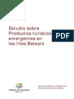 Estudio Sobre Productos Turisticos Emergentes Baleares