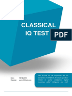 Sample Report Classical Intelligence Test