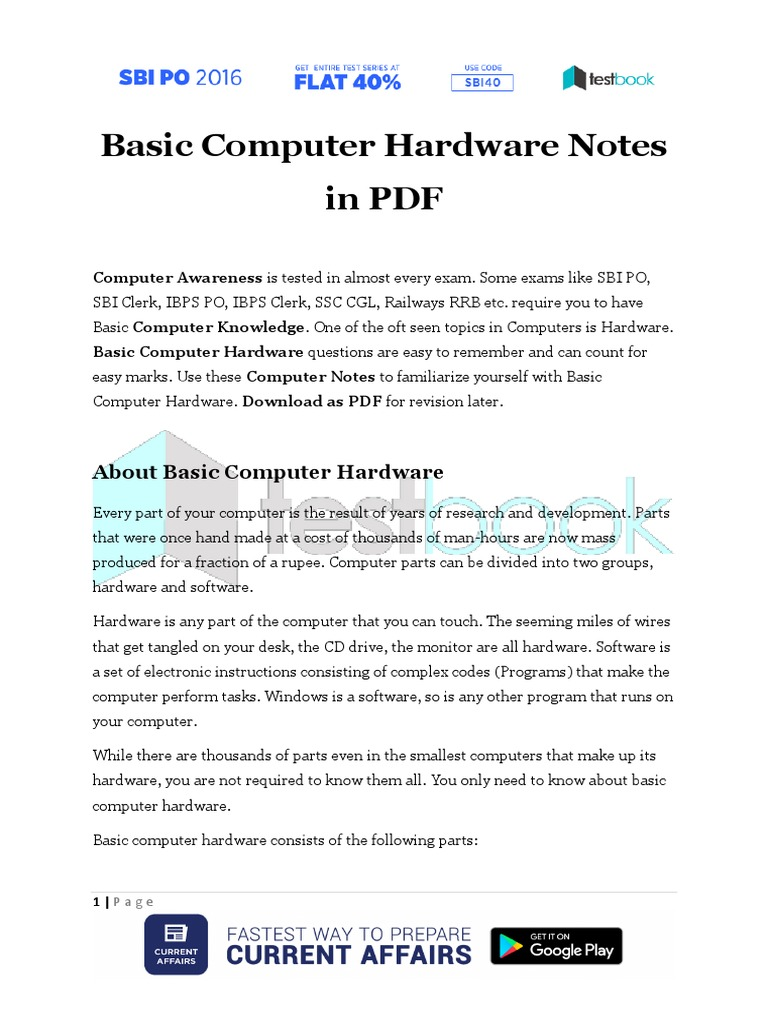 About Computer Hardware Pdf