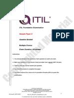 Sample c Axelos Itil Exam
