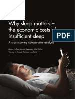 Why Sleep Matters – the Economic Costs of Insuffficient Sleep