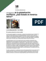 Después de la globalización neoliberal -Pagina 12