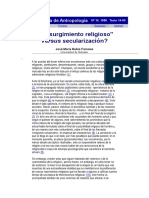 TEXTO Resurgimiento religioso  vesus secularización Gazeta de Antropología.doc