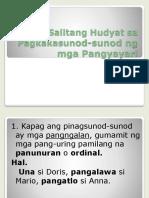 Mga Salitang Hudyat Sa Pagkakasunod-sunod Ng Mga Pangyayari