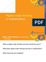 Higher Order Thinking in Mathematics