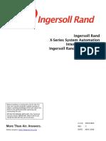 Ingersoll-Rand x series compressor 80443864 2008 Dec instruction manual