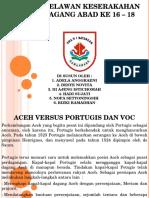Aceh Versus Portugis Dan VOC