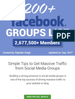 200+ Facebook Groups (Updated Social Media Groups List) 2017