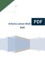 Kriteria Laman Web