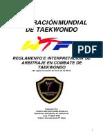 2017 JUNIO Reglamento e Interpretacion de Arbitraje en Combate de Taekwondo