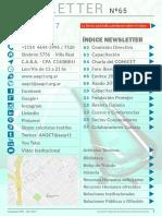 Asociación Argentina de Químicos y Coloristas Textiles,NEWSLETTER  Nº 65